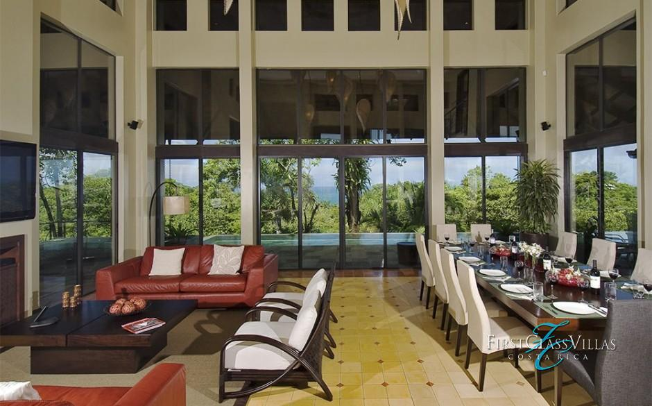 Villa Paraiso Living Room Ocean View