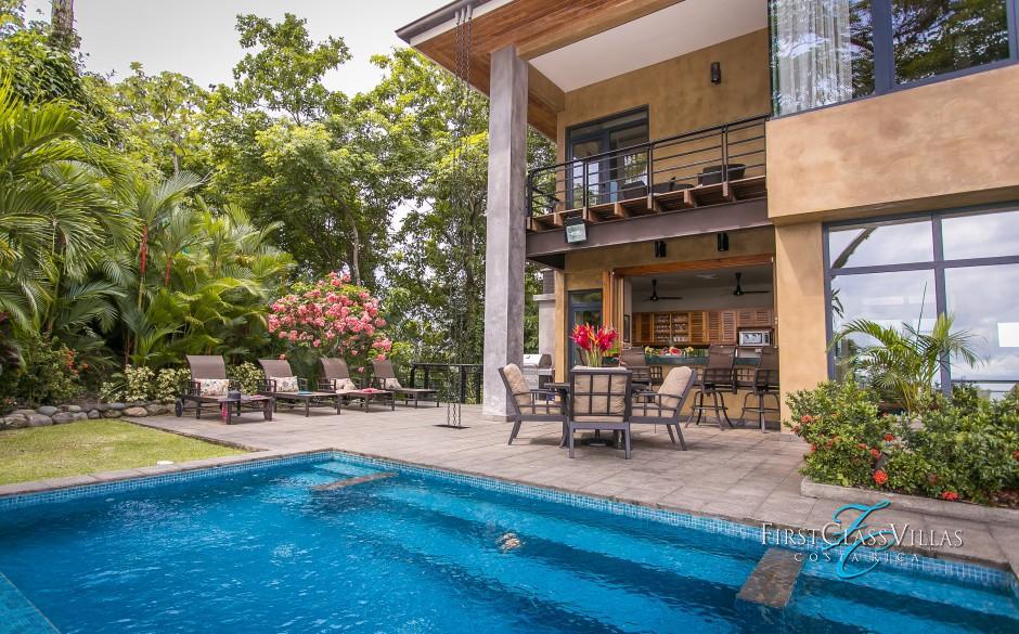 Manuel Antonio Costa Rica Villa Feliz-4 bedroom villa-infinity pool1