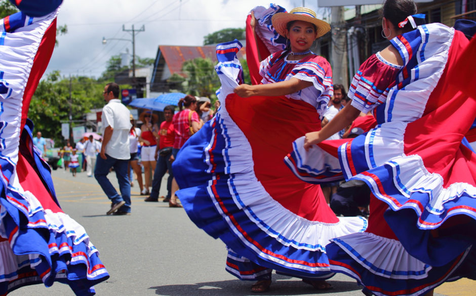 Costa Rica Independence Day Parade in Quepos